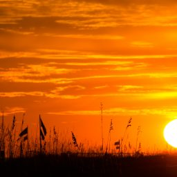 Sunset over Orange Beach