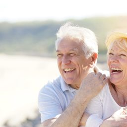 Senior couple happy with the results of Restorative Dentistry from Orange Beach Family Dentistry